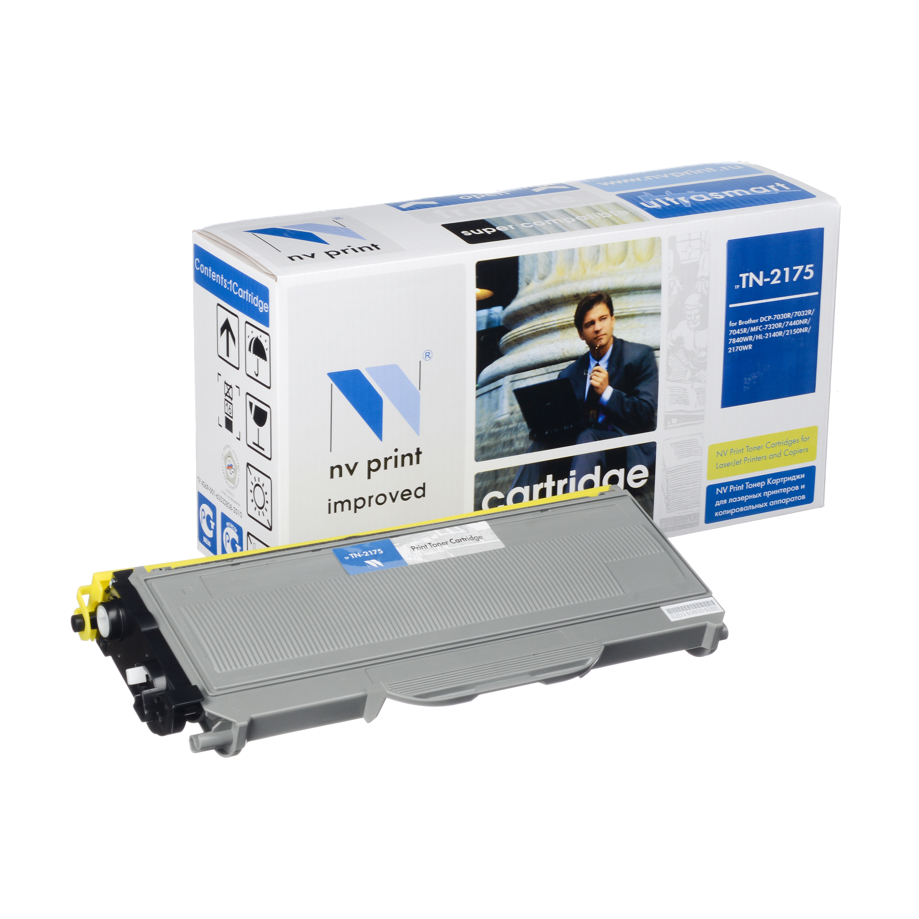 Картридж NV Print Brother TN-2175Картридж NV Print для Brother HL-2140R/2150NR/2142/2170R/DCP-7030R/7032R/7045R/MFC-7320R/7440NR/7840WRКартридж NV Print для Brother HL-2140R/2150NR/2142/2170R/DCP-7030R/7032R/7045R/MFC-7320R/7440NR/7840WR